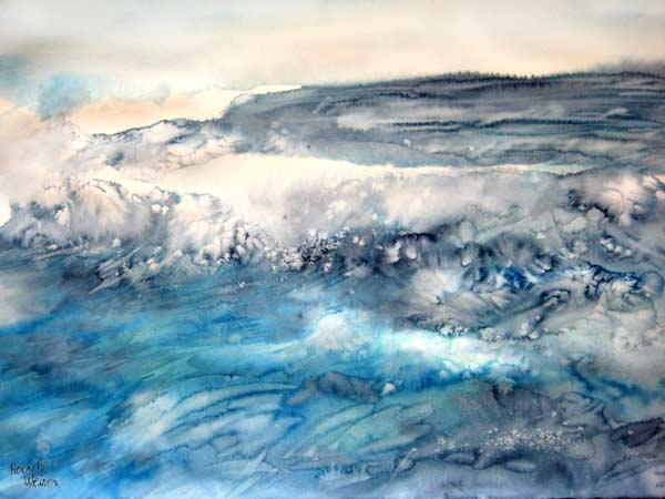 """Break"", watercolor painting by Rochelle Weiner"