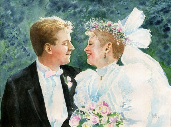 Dean and Laura on their Wedding Day