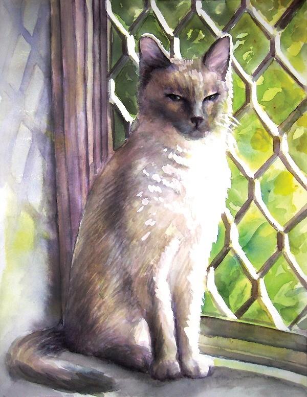 Simone in the Bay Window